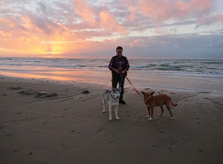 Corona mit Hund