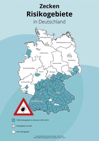 Infografik Zecken Risikogebiete