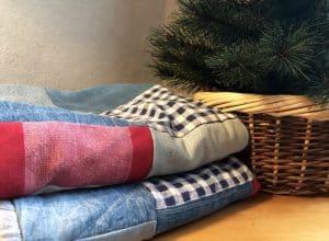 Kuscheldecke aus Jeans