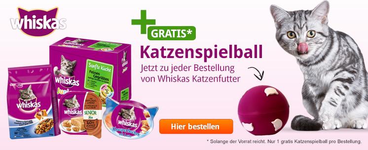 Katzenspielball von Whiskas - Jetzt gratis zu jeder Whiskas Bestellung