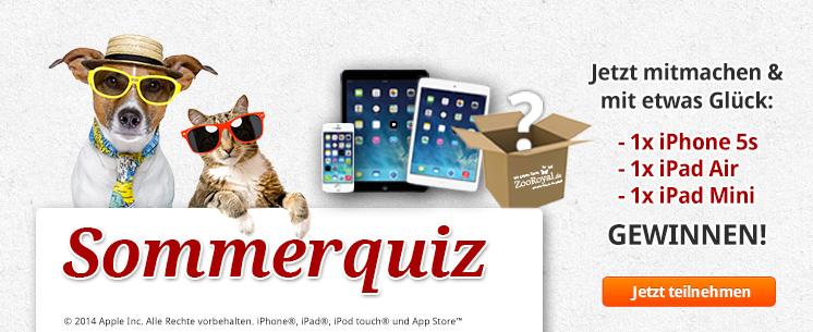 ZooRoyal Sommerquiz - Jetzt mitmachen und tolle Gewinne von Apple abstauben!