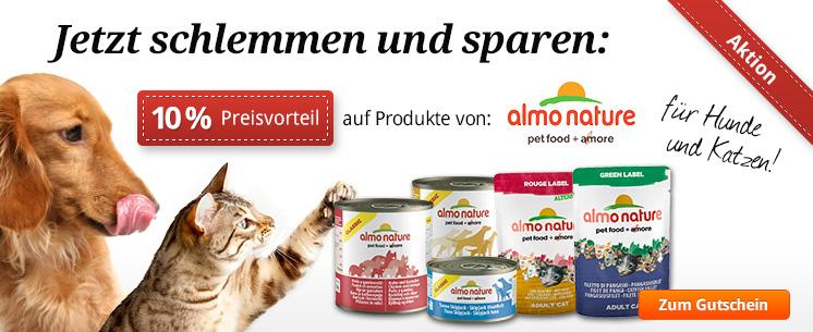 10% Preisvorteil bei allen Produkten von Almo Nature