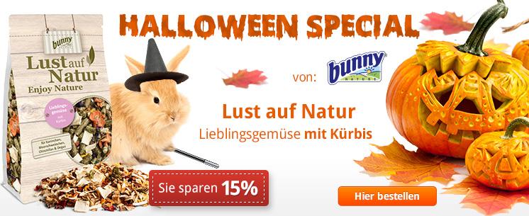 Halloween Special von Bunny: Lust auf Natur Lieblingsgemüse mit Kürbis. Jetzt zum Special Preis -15%!