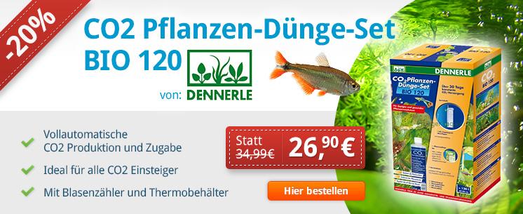 CO2 Planzen-Dünge-Set BIO 120 von Dennerle. Jetzt für nur 26,90 €!