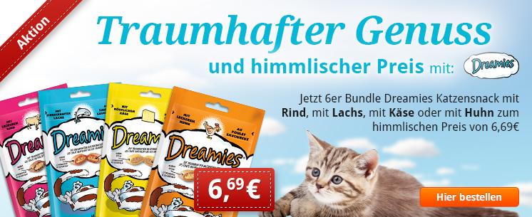 Dreamies Katzensnacks im 6er Bundle