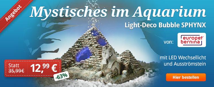 "Aquarien ""Light-Deco Bubble SPHYNX"" - Jetzt 63% gespart!"