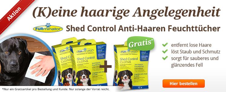 (K)eine haarige Angelegenheit: Die Shed Control Anti-Haaren Feuchttücher für Hunde. Zum Entfernen loser Haare und Staub vom Fell.