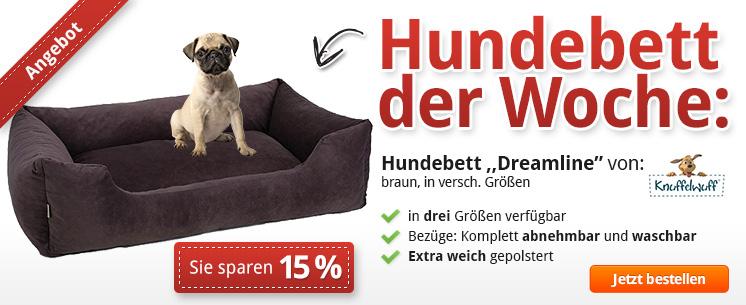 """Hundebett der Woche: Beim """"Dreamline"""" von Knuffelwuff 15% sparen!"""