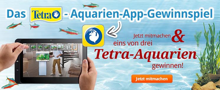 Machen Sie mit beim Tetra Aquarien App Gewinnspiel und gewinnen Sie mit etwas Glück eins von drei Tetra Aquarien!