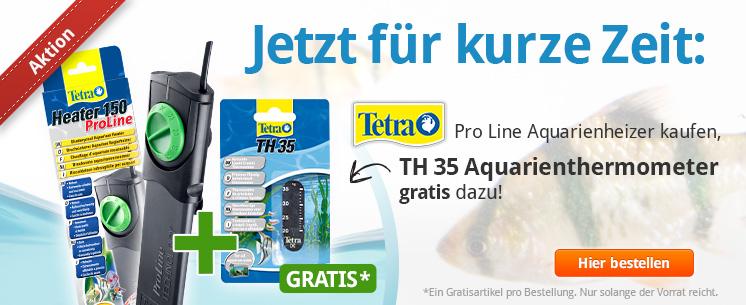 Nur für kurze Zeit: Zum Kauf von jedem Tetra Pro Line Aquarienheizer gibt es ein TH 35 Aquarienthermometer gratis