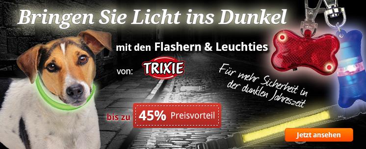 Bringen Sie Licht ins Dunkel mit den praktischen Flashern und Leuchties von Trixie! Jetzt kaufen und bis zu 45% sparen!