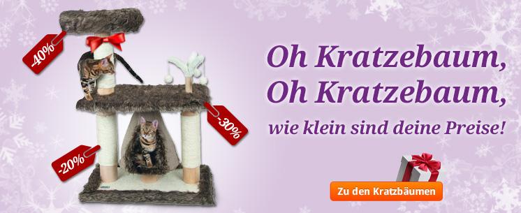 Oh Kratzebaum, oh Kratzebaum, wie klein sind deine Preise! Unsere schicken Kratzbäube für Ihre Samtpfote, jetzt ansehen!