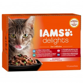 Iams Delights Multipack Sea Collection in Sauce 12x85g