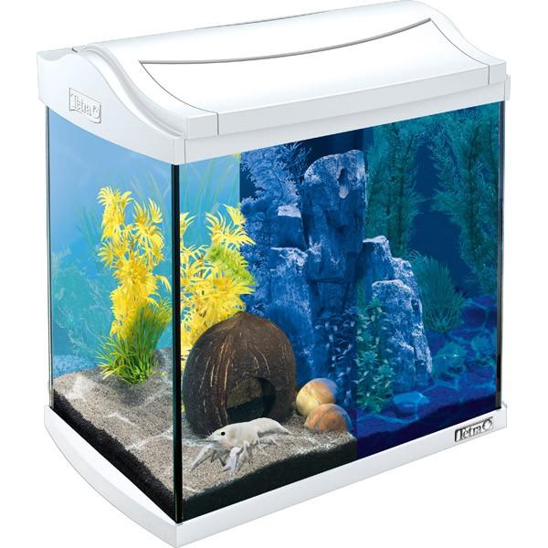 tetra aquaart led aquarium komplett set wei nano. Black Bedroom Furniture Sets. Home Design Ideas