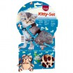 Trixie Kitty Cat-Set - Geschirr/Leine, inkl. 2 Spielzeugen