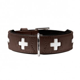 Hunter Halsband Swiss nickel Braun/Schwarz