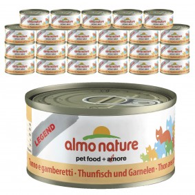 Almo Nature Legend Katzenfutter 24x70gThunfisch & Garnelen