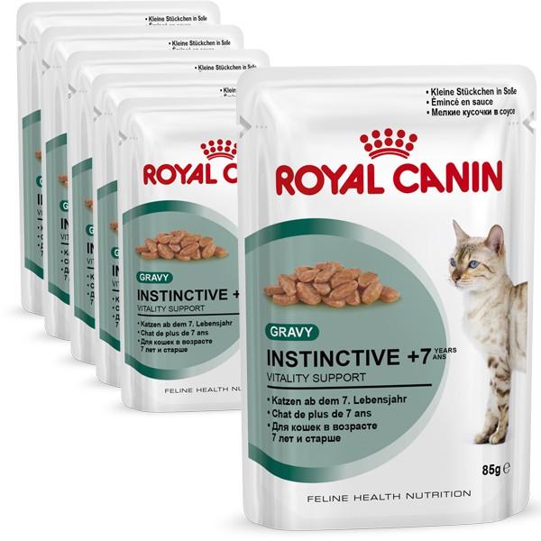 royal canin katzenfutter instinctive 7 in sosse 6x85g. Black Bedroom Furniture Sets. Home Design Ideas
